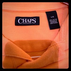 Chaps Tangerine Orange Polo Golf Shirt